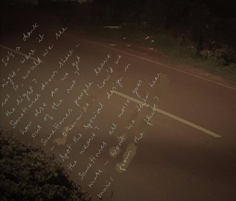 Dark night, lights Poem